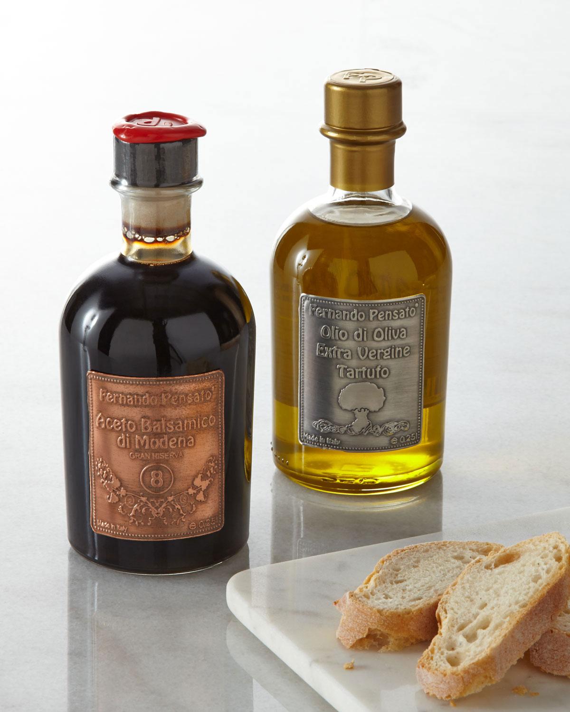 Fernando Pensato Metal Label Truffle Olive Oil   Balsamic Vinegar ... 0a624ff64a