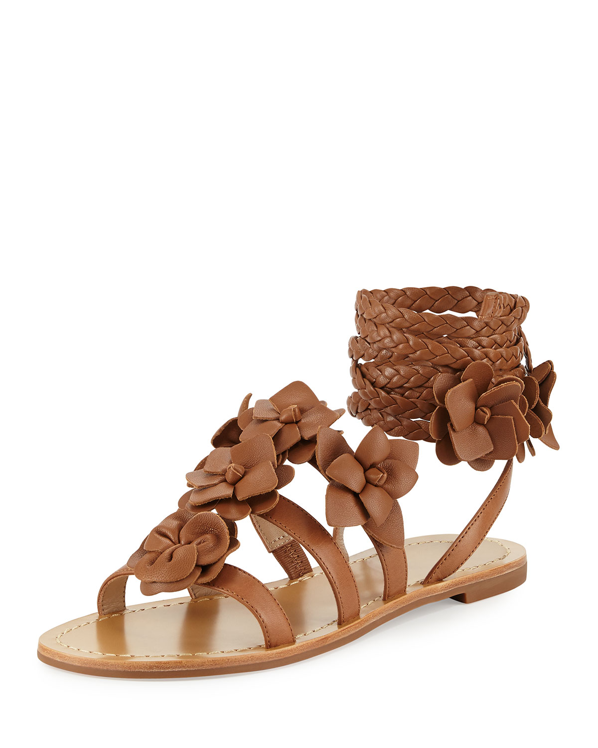 50637988c2ee1 Tory Burch Blossom Leather Gladiator Sandal