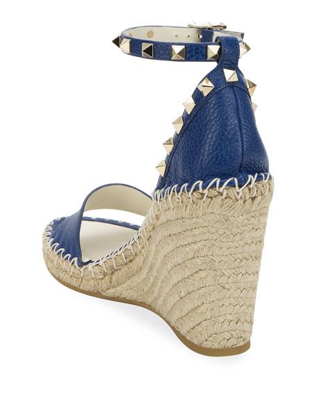 Valentino Garavani Rockstud Double Espadrille Wedge Sandals