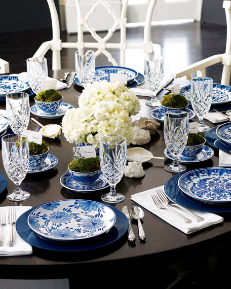 12 Traditional Dessert Plates & Traditional Blue \u0026 White Dinnerware