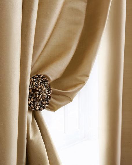 "Amity Home Radiance Silk Curtain, 84""L"