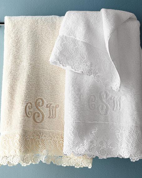 Matouk Callista Lace Guest Towel