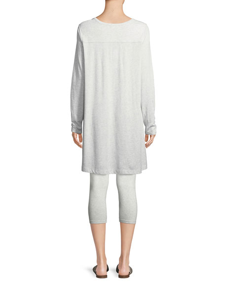 Scoop-Neck Long-Sleeve Tunic