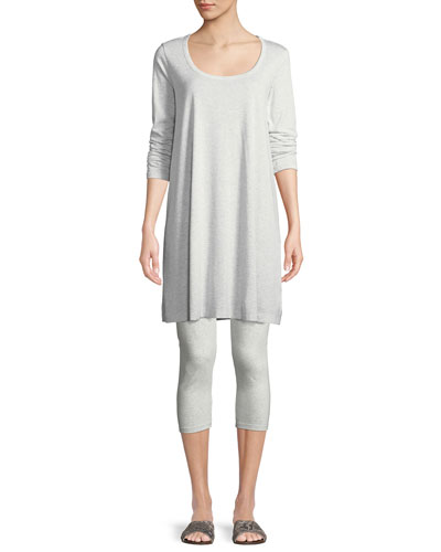 Scoop-Neck Long-Sleeve Tunic & Stretch-Jersey Leggings
