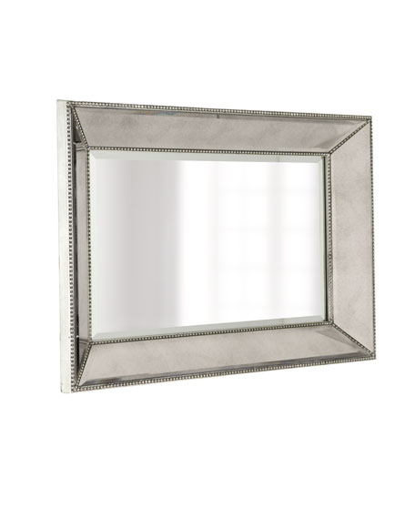 "Beaded Wall Mirror, 24""W"