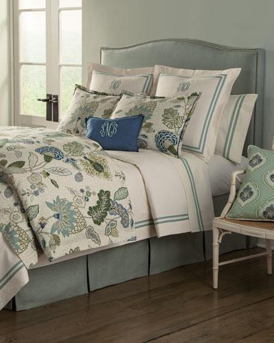 Gemma Aqua Bedding & Somerset 200TC Sheet Set