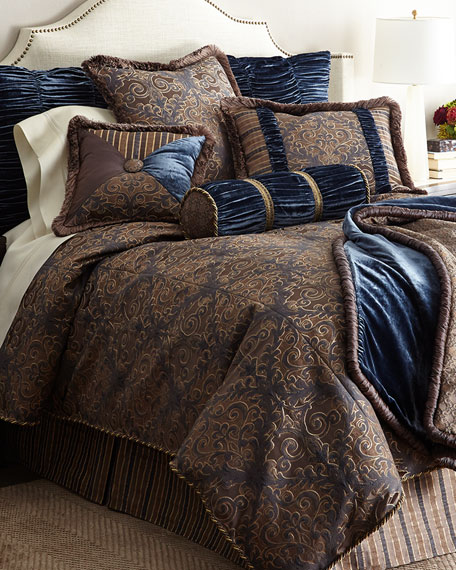 Dian Austin Couture Home King Marilyn Damask Duvet Cover
