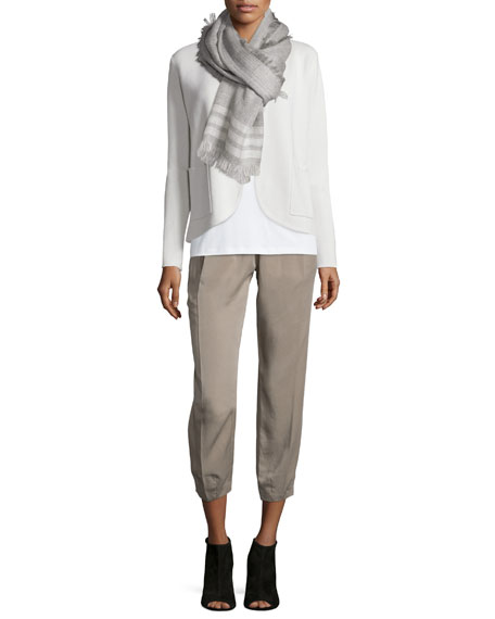 Eileen Fisher Silk Organic Cotton Interlock Jacket, Plus
