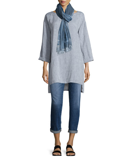 Eileen Fisher Long Yarn-Dye Tunic