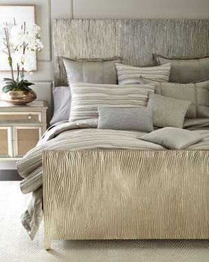 2a995678fde4 Donna Karan Home Reflection Standard Quilted Silk Sham Full/Queen Tidal Duvet  Cover King Tidal