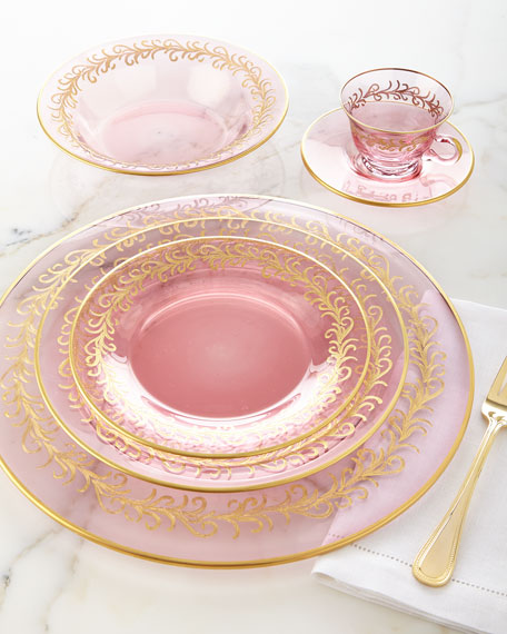 Blush Oro Bello Charger Plates, Set of 4