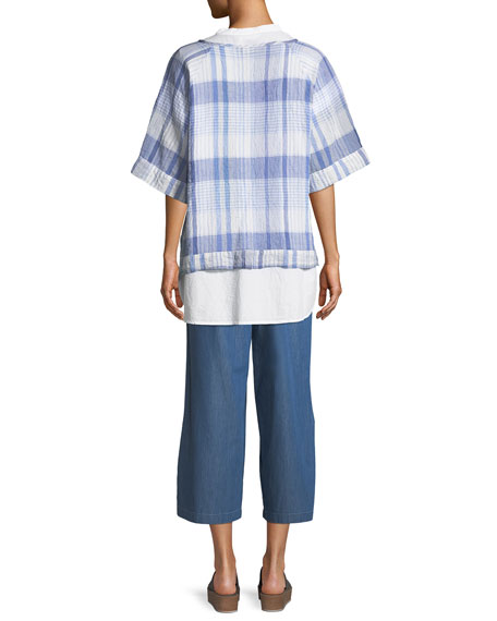 Danica Cotton Voile Plaid Top