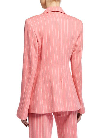 Image 3 of 3: Maggie Marilyn Follow Your Heart Striped Blazer