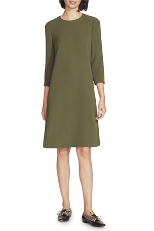 Lafayette 148 New York Quintana Finesse Crepe Dress