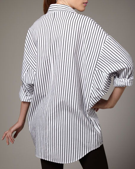 Striped Big Shirt, Women's