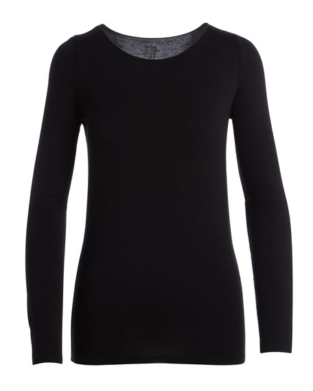 Soft Touch Marrow-Edge Long-Sleeve Top