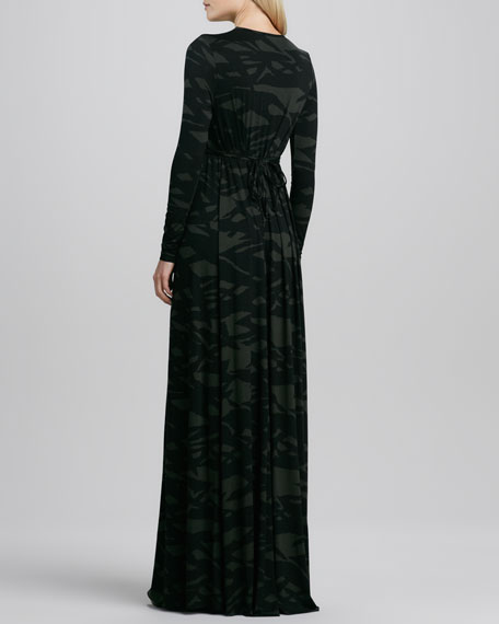 Pine Reflection Long Caftan Dress