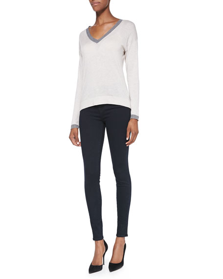 Image 2 of 4: J Brand Maria High-Rise Skinny Jeans, Bluebird