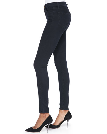 Image 3 of 4: J Brand Maria High-Rise Skinny Jeans, Bluebird
