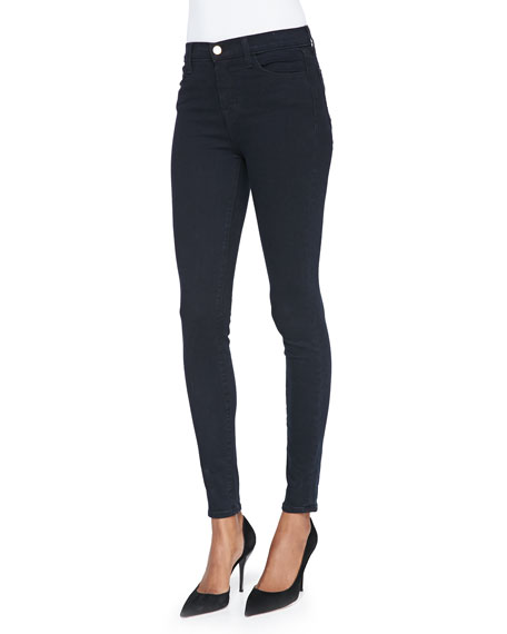 Image 1 of 4: J Brand Maria High-Rise Skinny Jeans, Bluebird