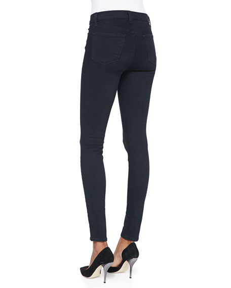 Image 4 of 4: J Brand Maria High-Rise Skinny Jeans, Bluebird