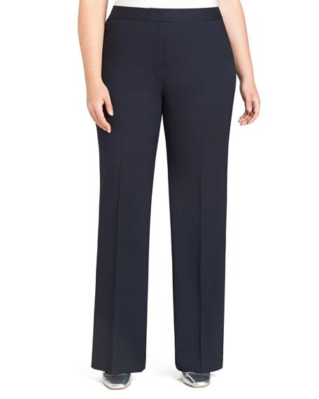 Lafayette 148 New York Plus Size Menswear Straight-Leg Stretch-Wool Pants