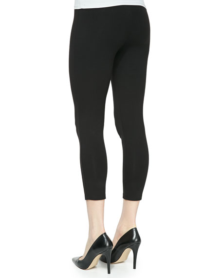 Plus Size Jersey Ankle Leggings