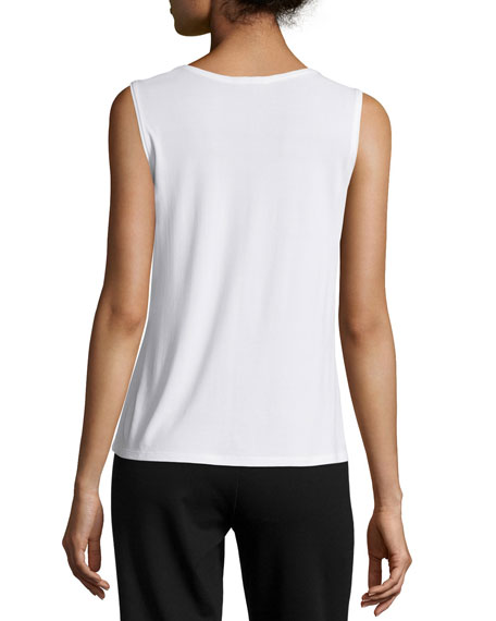 Eileen Fisher Plus Size Stretch Silk Jersey Tank