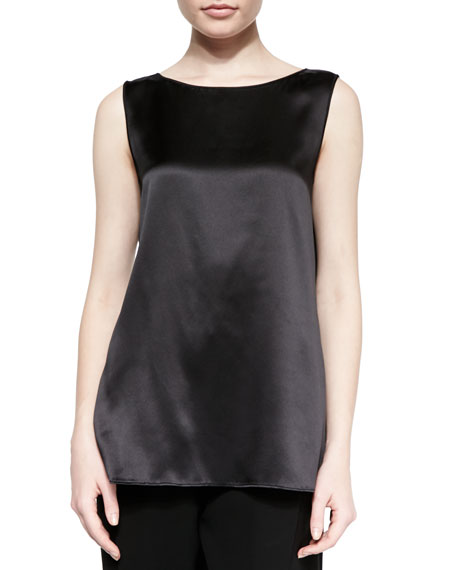 Lafayette 148 New York Rosie Sleeveless Satin Blouse