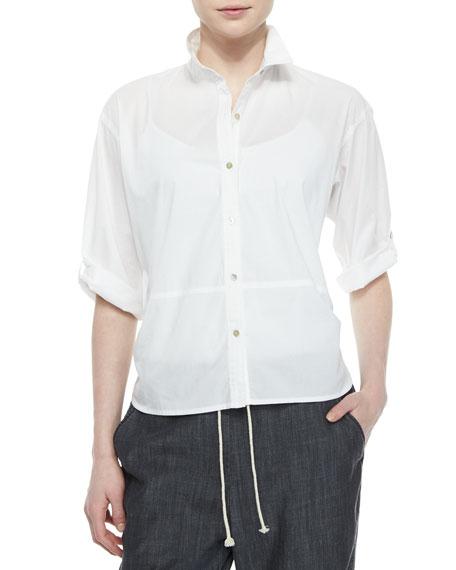 Eileen fisher organic cotton tab sleeve shirt neiman marcus for Eileen fisher organic cotton t shirt