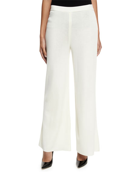 MisookWashable Wide-Leg Pants, Cream
