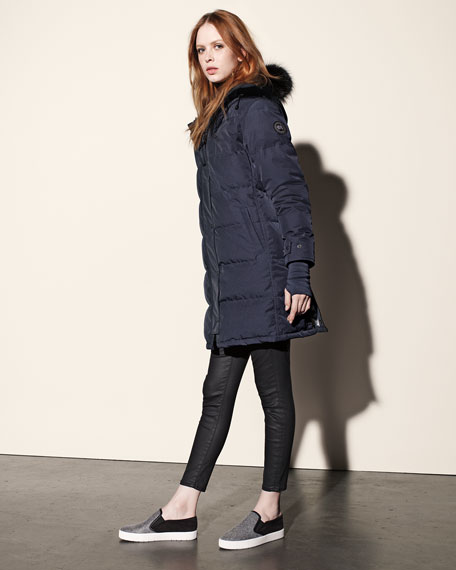 Canada Goose Fur Trimmed Long Parka, Black M