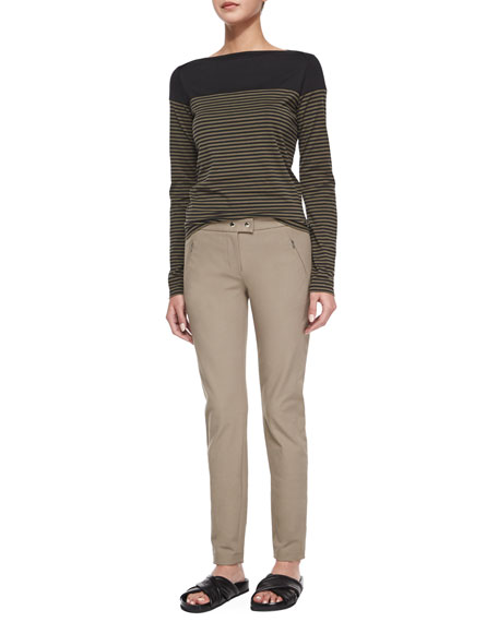 Adalwen Jetty Slim Zip-Pocket Pants