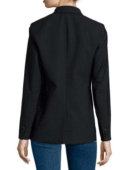 Long & Lean Blazer Jacket, Black