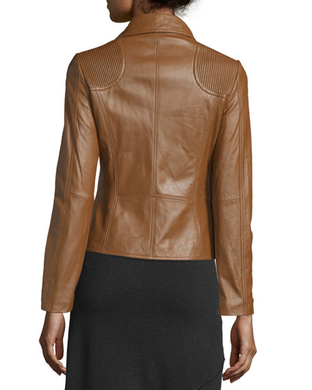 Lambskin Moto Leather Jacket