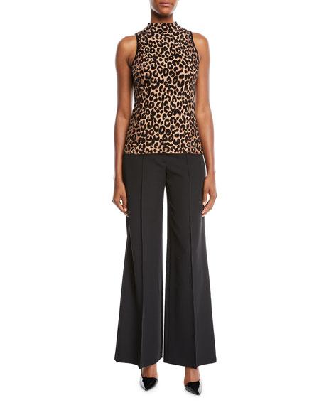 Hayden High-Waist Italian Cady Trousers