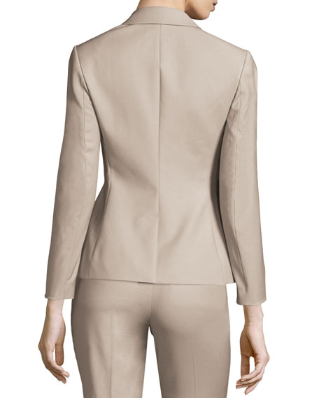 Braneve Wool-Blend Peplum Jacket, Gray