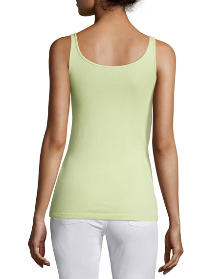 Long Organic Cotton Baby Rib Slim Tank