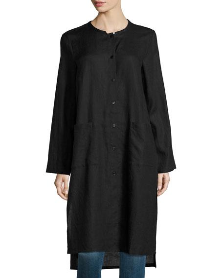 Eileen Fisher Long Organic Linen Jacket, Organic Cotton Slim Tank ...