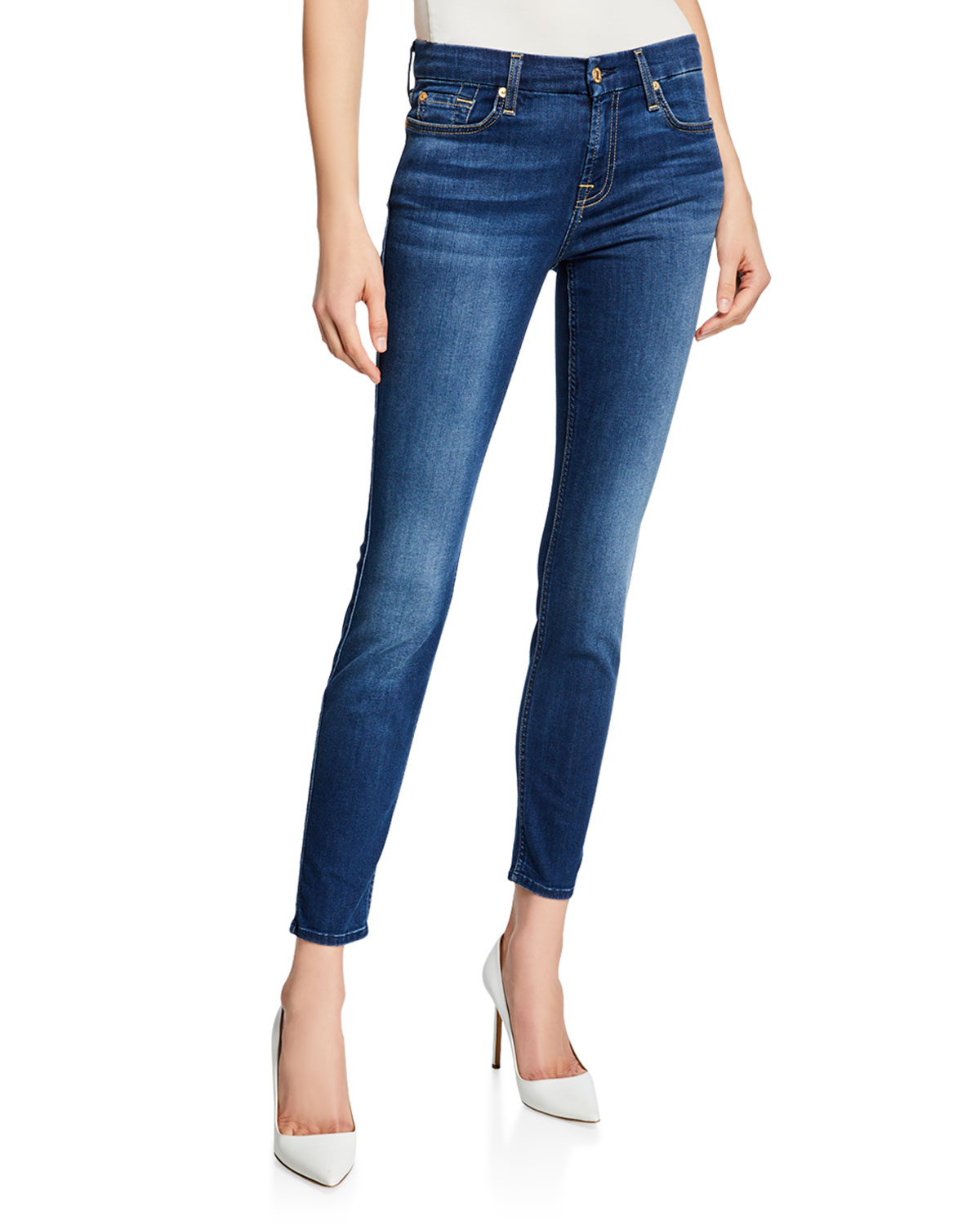 382680eb40a4ac 7 for all mankind The Ankle Skinny Jeans, B[Air] Duchess | Neiman Marcus
