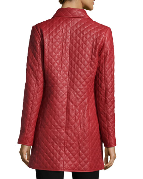 Neiman Marcus Long Quilted Leather Jacket : neiman marcus quilted leather jacket - Adamdwight.com
