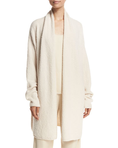 Textured Shawl Cardigan, Off White