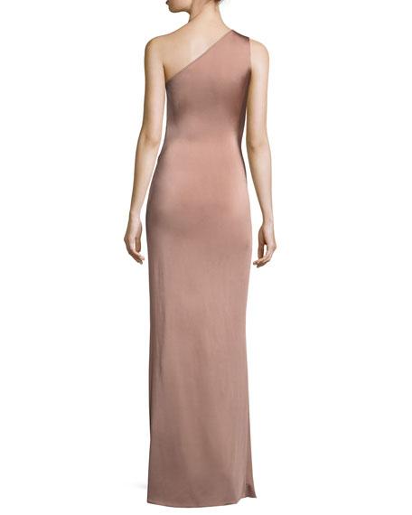 Cushnie Et Ochs One-Shoulder Twisted-Waist Gown, Pink