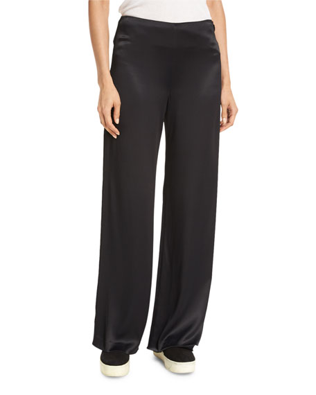 Vince Fluid Wide-Leg Pants, Black