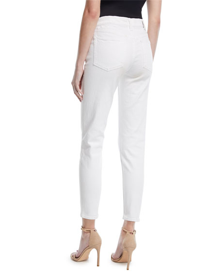 Image 3 of 4: Ralph Lauren Collection 400 Matchstick Ankle Jeans, White
