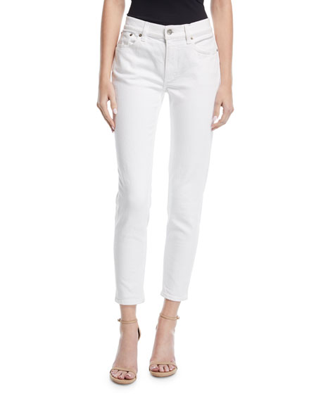 Image 1 of 4: Ralph Lauren Collection 400 Matchstick Ankle Jeans, White