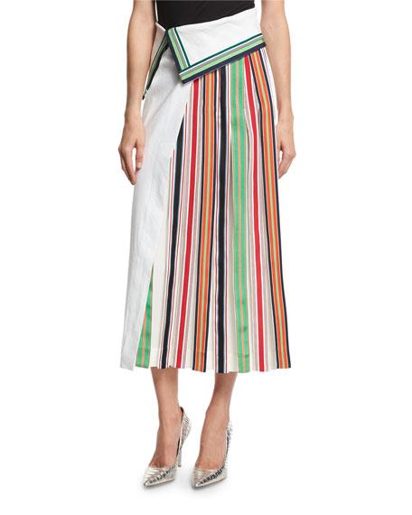 Diane von Furstenberg Ribbon Stripe Skrt & Top