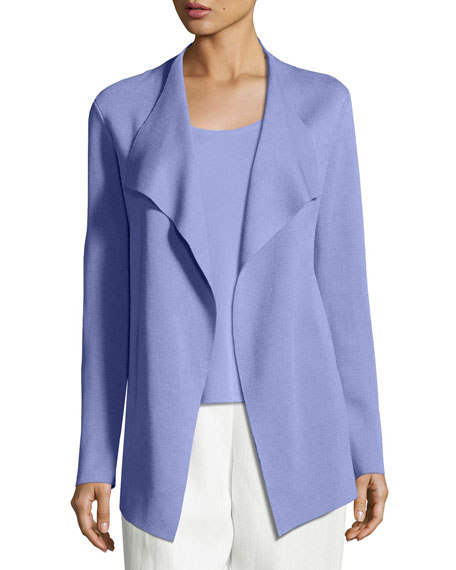 Eileen Fisher Open Interlock Casade Jacket, Plume and