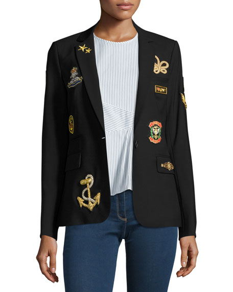 Veronica Beard Classic Patch Jacket, Black
