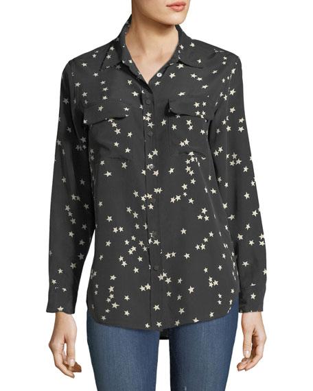 Equipment Slim Signature Star-Print Shirt